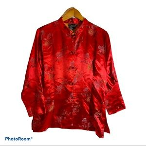 Red And Gold Kimono Style Jacket